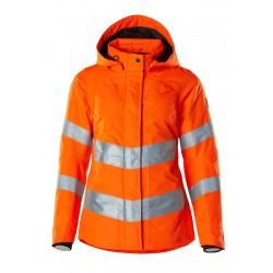 Mascot Ladies Safe Supreme 18545 Winter Jacket Waterproof Orange Class 3
