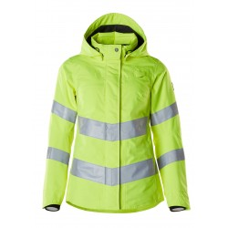 Mascot Ladies Safe Supreme 18512 Softshell Jacket Water Repellent  Yellow Class 3
