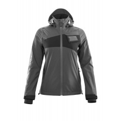 Mascot Accelerate 18011 Ladies Fit Outer Shell Jacket Dark Anthracite Black