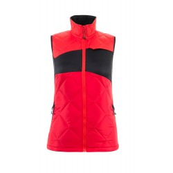 Mascot Accelerate 18075 Winter Gilet Ladies Fit Traffic Red Black