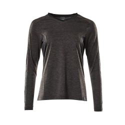 Mascot Accelerate 18091 Ladies Fit T-shirt long Sleeved Dark Anthracite Flecked Black