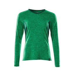 Mascot Accelerate 18091 Ladies Fit T-shirt long Sleeved Grass Green Flecked Green
