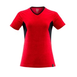 Mascot Accelerate 18092 Ladies Fit T-shirt Traffic Red Flecked Black