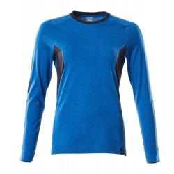 Mascot Accelerate 18391 Ladies Fit T-shirt, long Sleeved Azure Blue Dark Navy