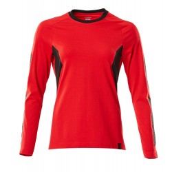 Mascot Accelerate 18391 Ladies Fit T-shirt, long Sleeved Traffic Red Black