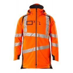 Mascot Accelerate Safe 19030 Parka Jacket Hi Vis Orange Dark Navy