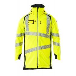 Mascot Accelerate Safe 19030 Parka Jacket Hi Vis Yellow Dark Navy