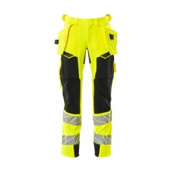 Mascot Accelerate Safe 19031 Trousers With Holster Pockets Hi Vis Yellow Black