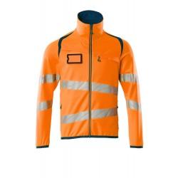 Mascot Accelerate Safe 19103 Fleece Jumper With Zipper Hi Vis Orange Dark Petroleum