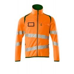 Mascot Accelerate Safe 19103 Fleece Jumper With Zipper Hi Vis Orange Moss Green