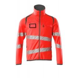 Mascot Accelerate Safe 19103 Fleece Jumper With Zipper Hi Vis Red Dark Anthracite