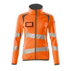 Mascot Accelerate Safe 19153 Fleece Jumper With Zipper Ladies Fit Hi Vis Orange Dark Anthracite