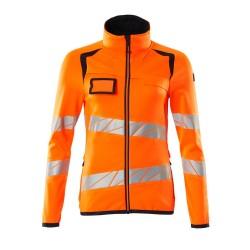 Mascot Accelerate Safe 19153 Fleece Jumper With Zipper Ladies Fit Hi Vis Orange Dark Navy