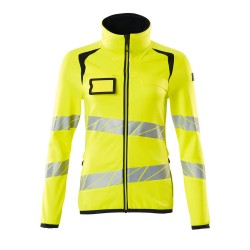 Mascot Accelerate Safe 19153 Fleece Jumper With Zipper Ladies Fit Hi Vis Yellow Black