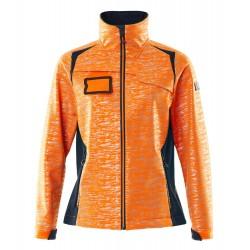 Mascot Accelerate Safe 19212 Softshell Jacket Ladies Fit Hi Vis Orange Dark Navy