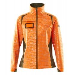 Mascot Accelerate Safe 19212 Softshell Jacket Ladies Fit Hi Vis Orange Moss Green
