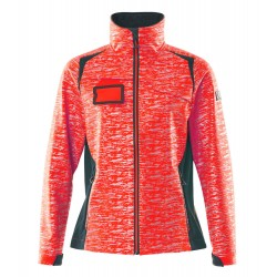 Mascot Accelerate Safe 19212 Softshell Jacket Ladies Fit Hi Vis Red Dark Navy