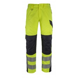 Mascot Arbon Multisafe 13879 Trousers With Kneepad Pockets Yellow Dark Navy