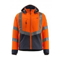 Mascot Blackpool Safe Supreme 15502 Softshell Jacket Water Repellent Orange Dark Navy Class 3