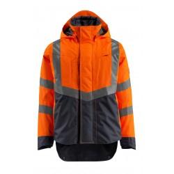 Mascot Harlow Safe Supreme 15501 Outer Shell Jacket Waterproof Orange Dark Navy Class 3 Repellent Class 2