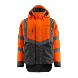 Mascot Hastings Safe Supreme 15535 Winter Jacket Waterproof Orange Dark Navy - Class 3