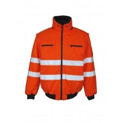 Mascot Kaprun Safe Arctic 00535 Orange Pilot Jacket