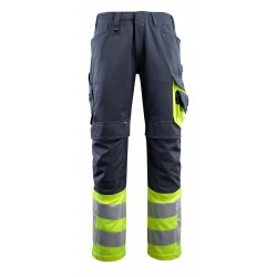 Mascot Leeds Safe Supreme 15679 Trousers With Kneepad Pockets Dark Navy Yellow