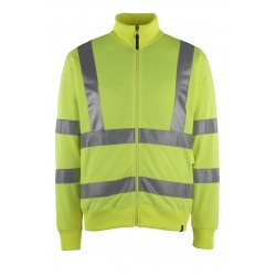 Mascot Maringa Safe Classic 50115 Yellow Sweatshirt With Zipper