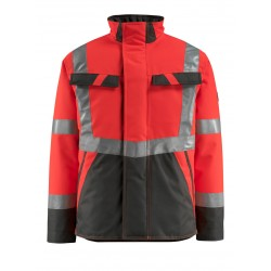 Mascot Penrith Safe Light 15935 Winter Jacket Water Repellent Red Dark Anthracite Class 3