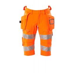 Mascot Safe Image 19349 Shorts long Holster Pockets Hi-Vis Orange Navy