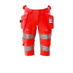 Mascot Safe Image 19349 Shorts long Holster Pockets Hi-Vis Red