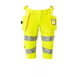 Mascot Safe Image 19349 Shorts long Holster Pockets Hi-Vis Yellow