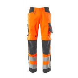 Mascot Safe Supreme 20879 Hi Vis  Trousers with kneepad pockets Orange Dark Anthracite