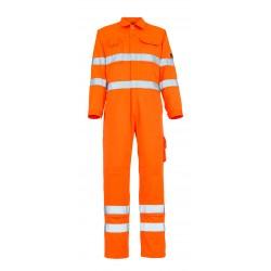 Mascot Safe Classic Utah Boilersuit With Kneepad Pockets - Hi-vis Orange