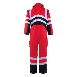 Mascot Safe Young Safara Winter Boilersuit - Hi-Vis Red / Dark Anthracite