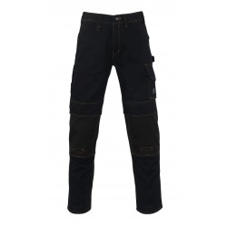 Mascot Young 11279 Trousers With Kneepad Pockets Black