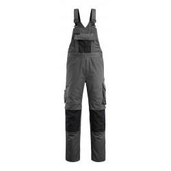 Mascot Safe Unique Augsburg Bib & Brace With Kneepad Pockets - Dark Anthracite/black
