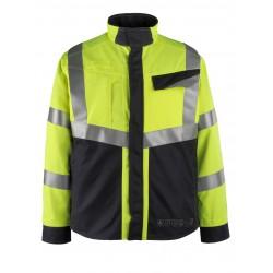 Mascot Multisafe Biel Jacket - Hi-vis Yellow Dark Navy