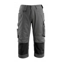 Mascot Safe Unique Altona ¾ Length Pants With Kneepad Pockets - Dark Anthracite/black