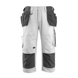 Mascot Safe Unique Lindau ? Length Pants With Kneepad Pockets And Holster Pockets - White/dark Anthracite