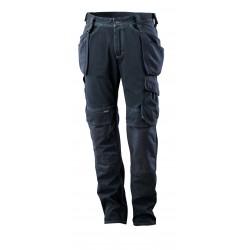 Mascot Hardwear 15131 Jeans With Kneepad Pockets And Holster Pockets Dark Blue Denim