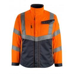 Mascot Safe Supreme Oxford Jacket - Hi-vis Orange Dark Navy