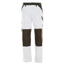 Mascot Light 15779 Trousers With Kneepad Pockets White Dark Anthracite