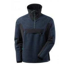 Mascot Advanced 17005 Knitted Jacket With Half Zip Dark Navy Black