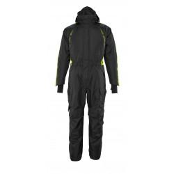 Mascot Hardwear 17019 Winter Boilersuit With Kneepad Pockets Black High-visibility Hi-vis Yellow
