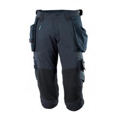 Mascot Advanced 17049 3/4 Length Pants With Kneepad Pockets And Holster Pockets - Dark Navy