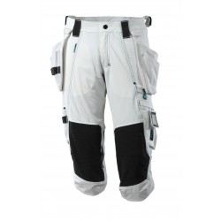 Mascot Advanced 17049 3/4 Length Pants With Kneepad Pockets And Holster Pockets - White