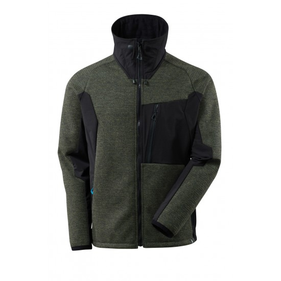 Mascot Advanced 17105 Knitted Jacket With Zipper Moss Green Black