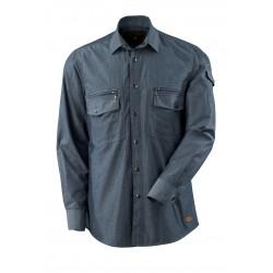 Mascot Crossover Norwood Shirt Washed Dark Blue Denim