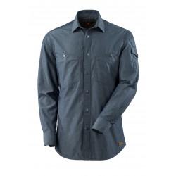 Mascot Crossover Yorkville Shirt - Washed Dark Blue Denim
